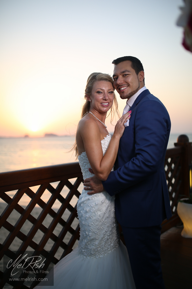 mr mrs sunset wedding dubai