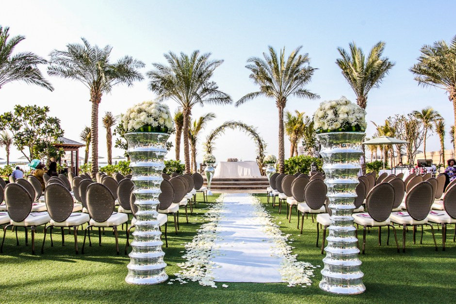decor wedding flowers aisle dubai four seasons planner