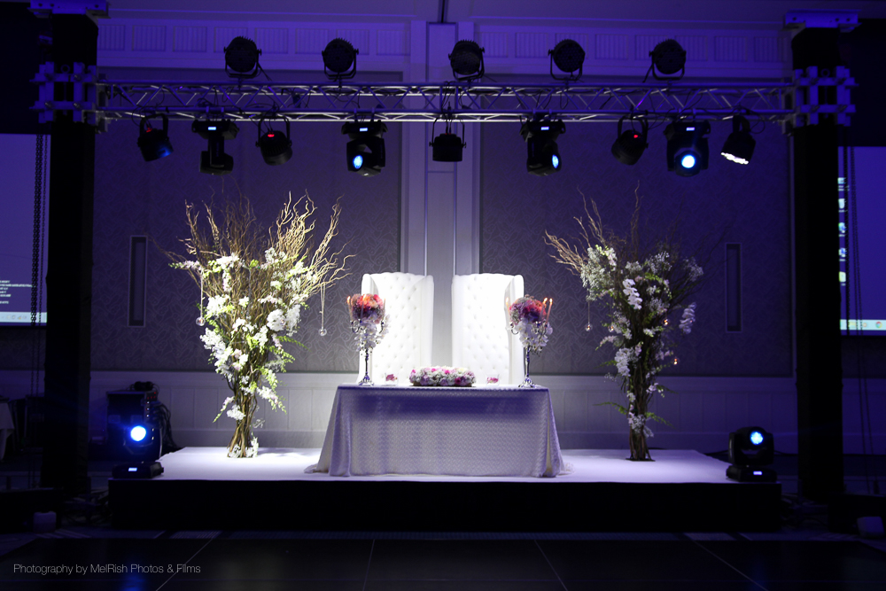 decor stage wedding nigerian thrones