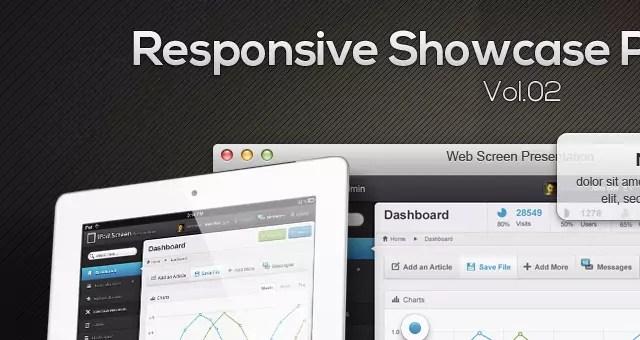 Free Responsive Showcase Psd Vol2