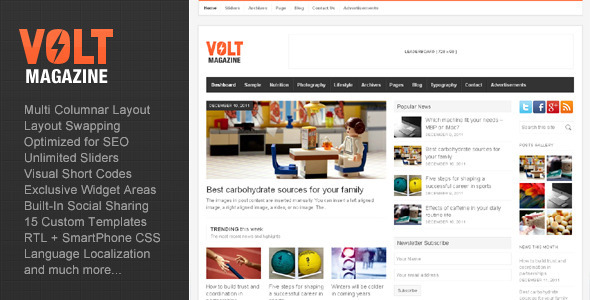 Volt - Magazine / Editorial WordPress Theme