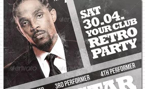 Retro-party-premium-print-ready-flyers