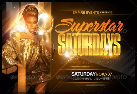 Superstar Saturdays Flyer Template