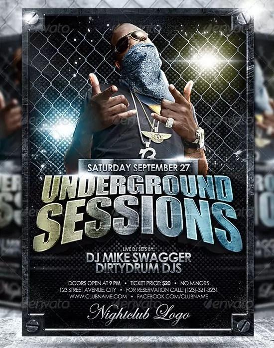 Underground Flyer Template