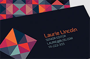 Trendy Geometric <br>Business Card