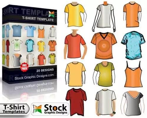 free blank t-shirt mockup design templates