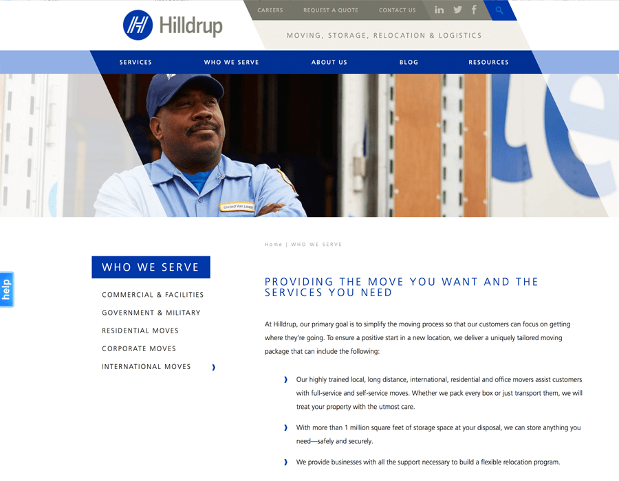 Portfolio Screenshot of Hilldrup Serve