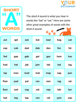 Vowel Sounds With Examples : vowel, sounds, examples, Short, Vowel, Words
