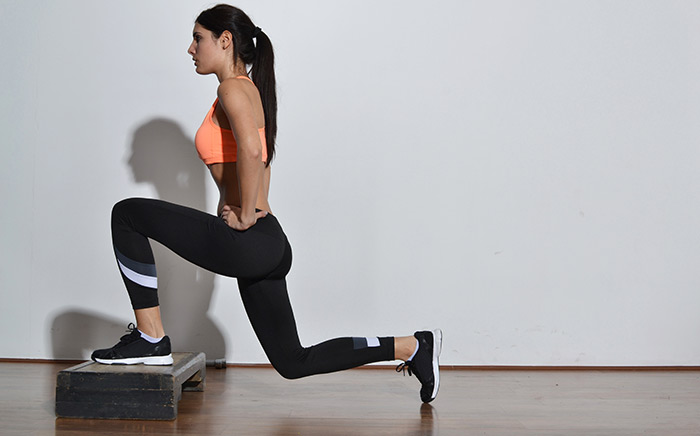 workout routine at home: lunges