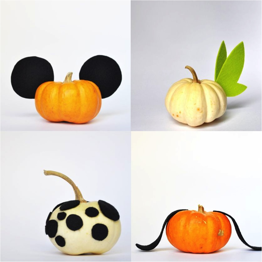4 no carve ways to decorate a pumpkin for Simple pumpkin centerpieces