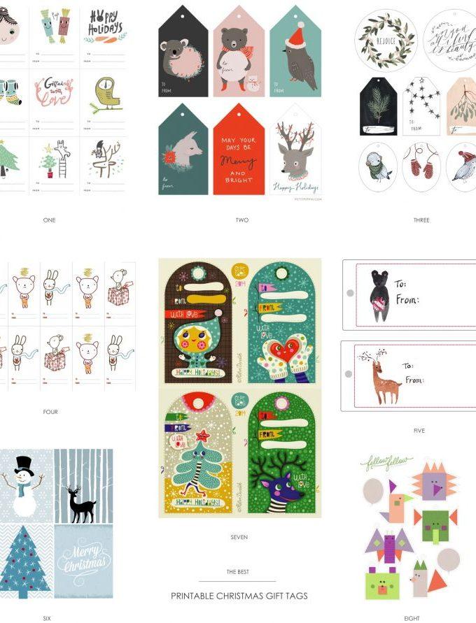 Free printable Chrismas gift tags