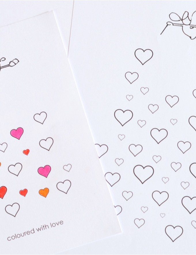Free Valentines card printable