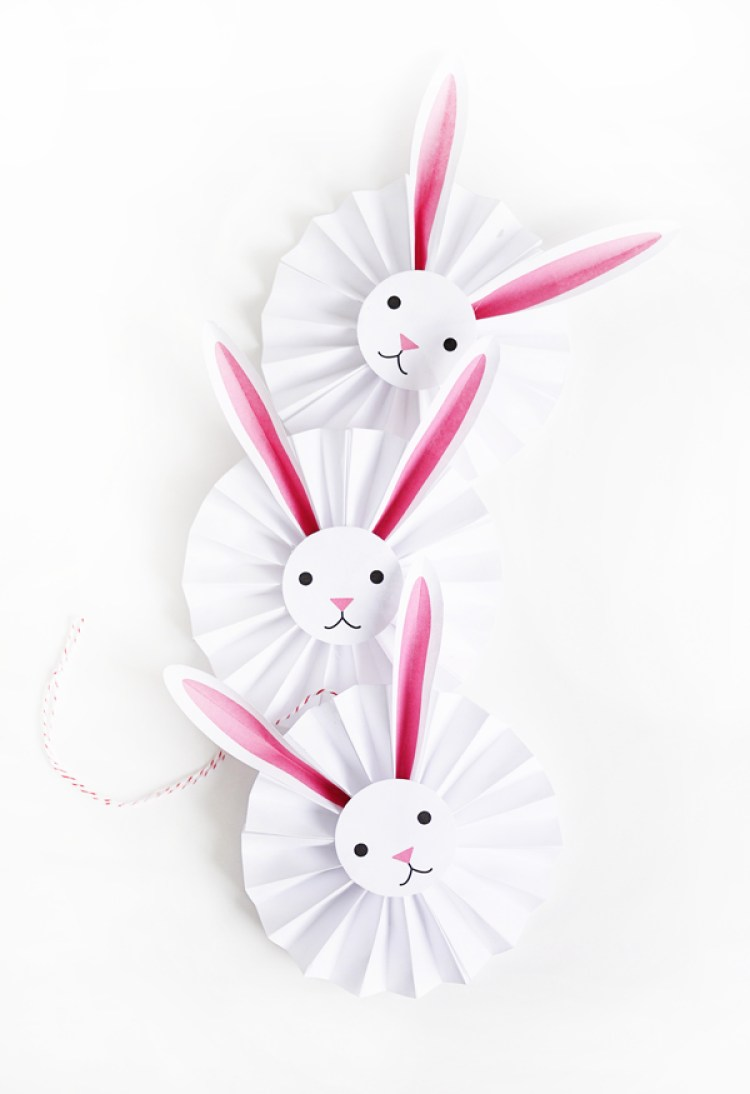 DIY Easter bunny decorations