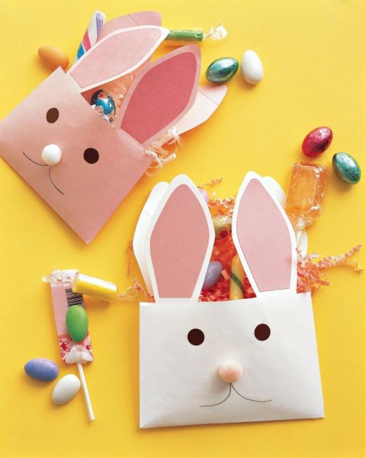 DIY Easter bunny envelopes