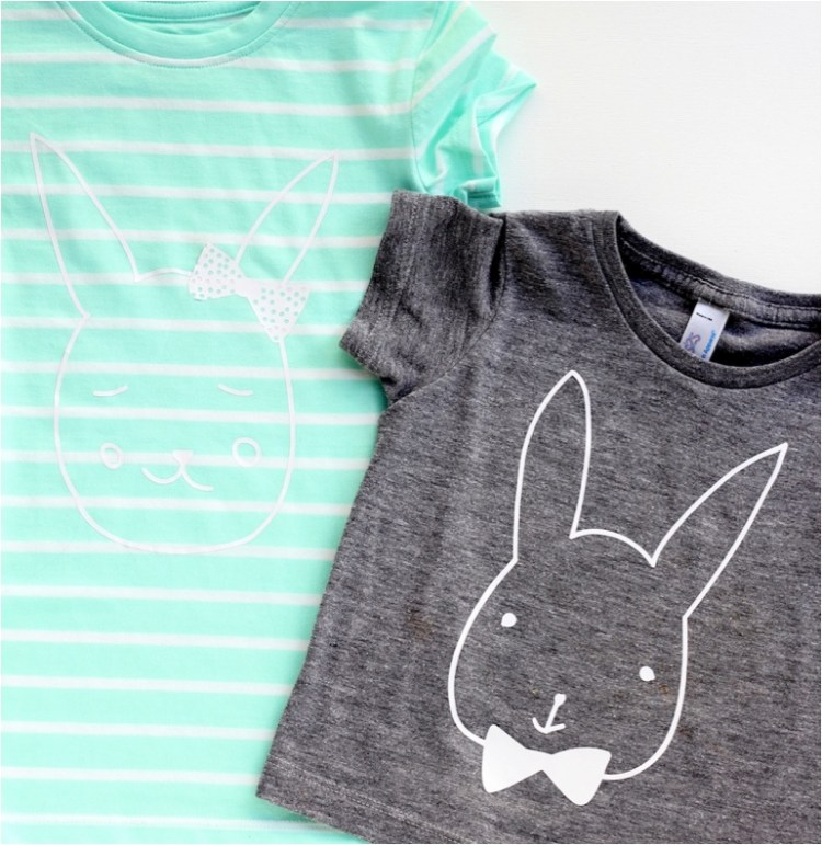 DIY bunny tshirt