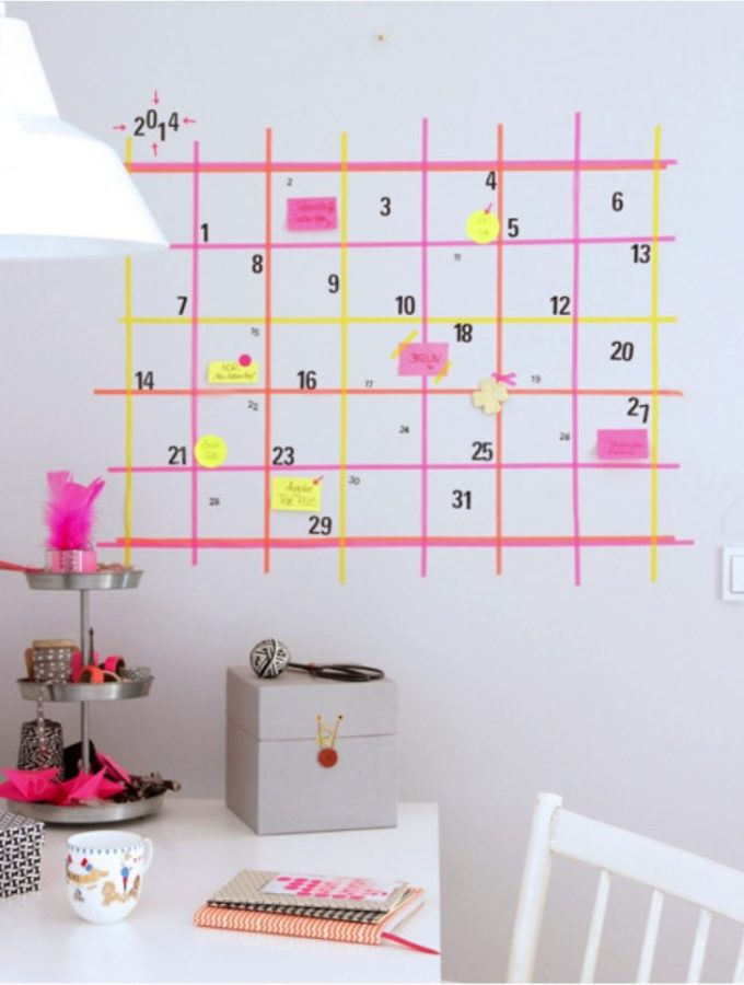 Neat idea: DIY Washi tape calendar