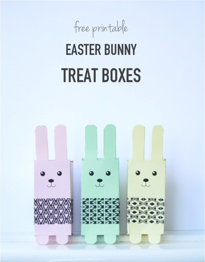 free printable easter boxes