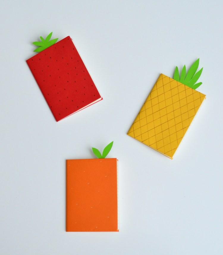 DIY summer journal fruit craft