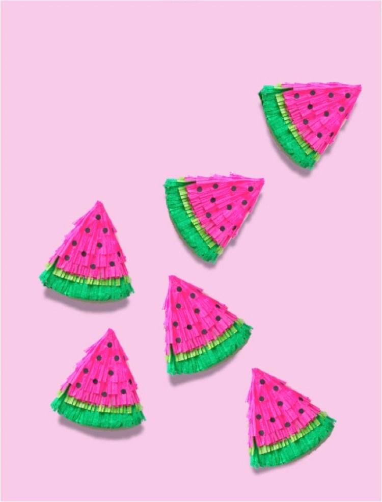 DIY fruit party pinatas