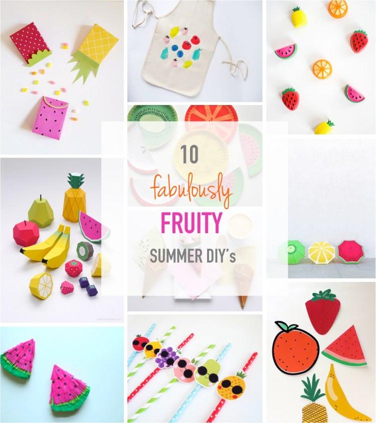 easy fruit crafts for kids