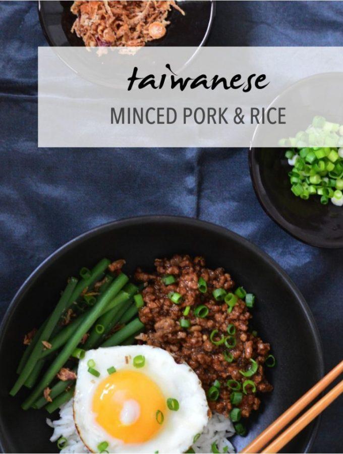 Taiwanese minced pork and rice