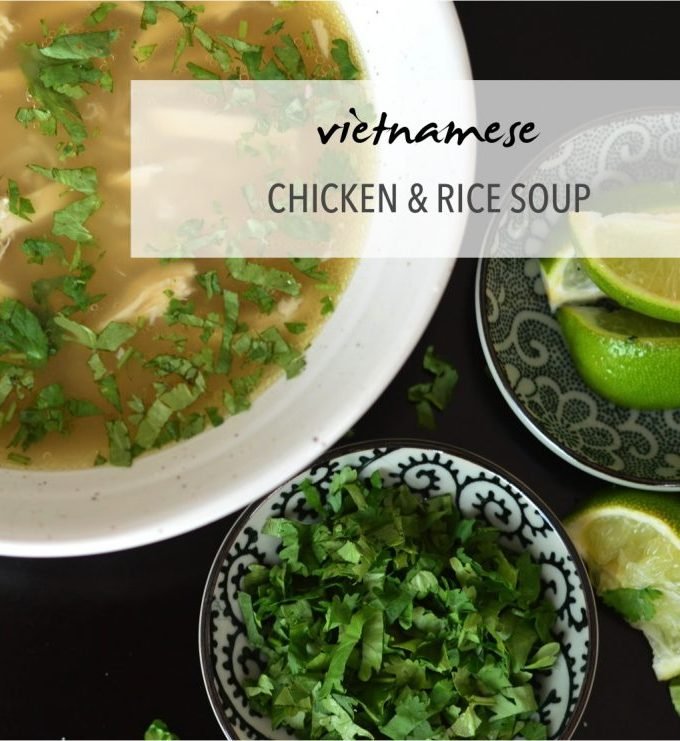 Warming Vietnamese chicken and rice soup