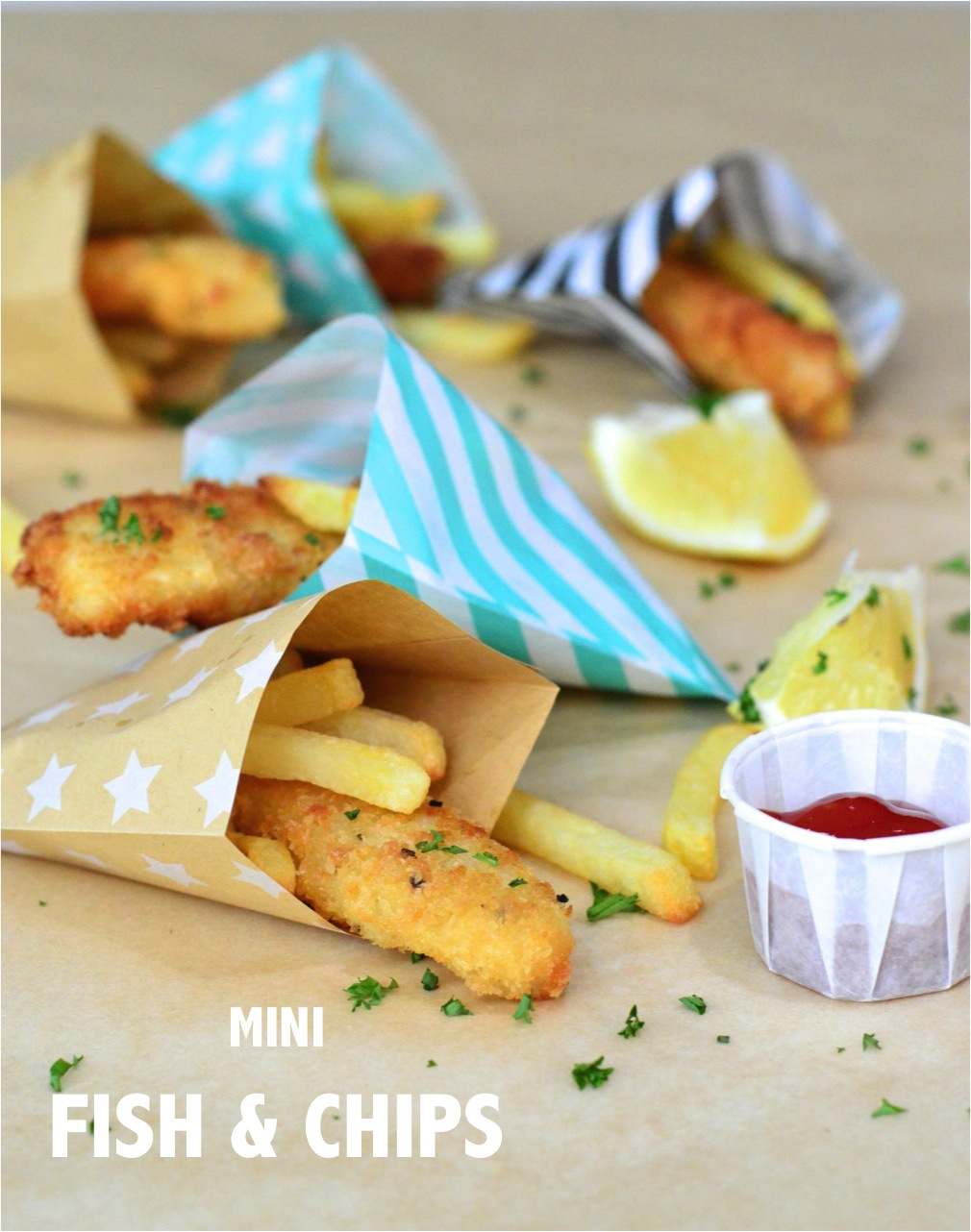 Easy party food recipes mini fish chips for All you can eat fish and chips near me