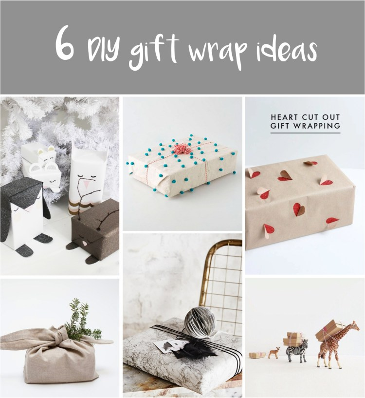 DIY christmas gift wrap ideas