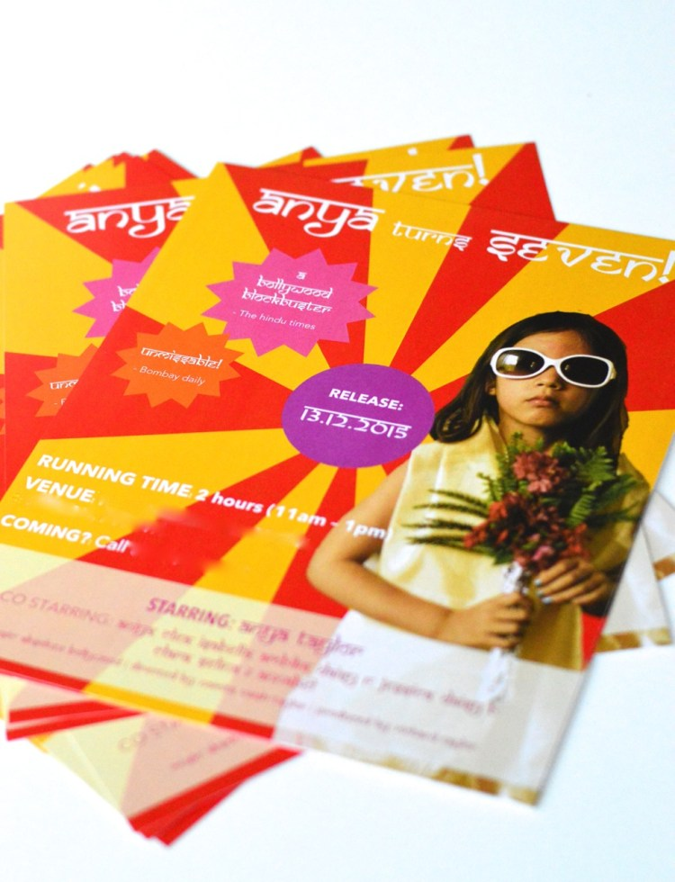 Bollywood party ideas invitation