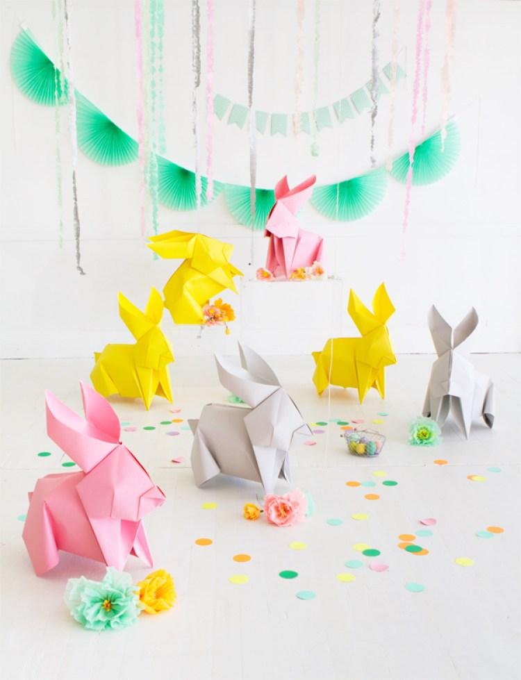DIY origami bunnies