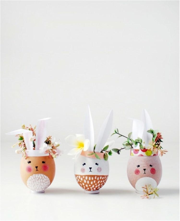 mini easter egg vases craft