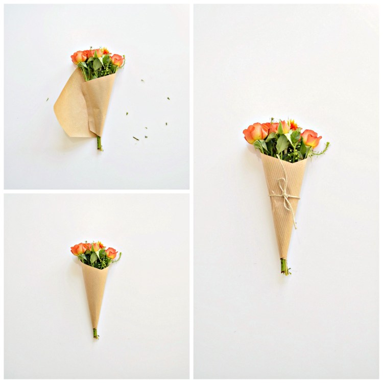 how to wrap a mini bouquet diy
