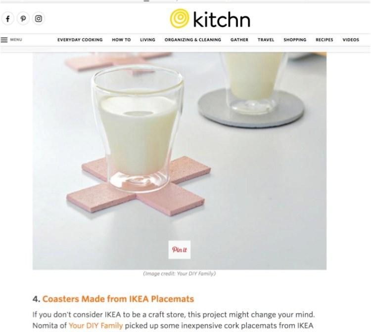 ikea hack diy coasters