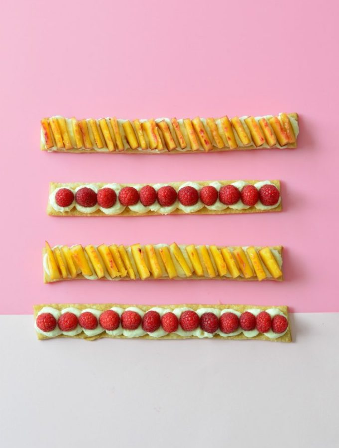 Feeling fruity: Shortcrust vanilla fruit slices