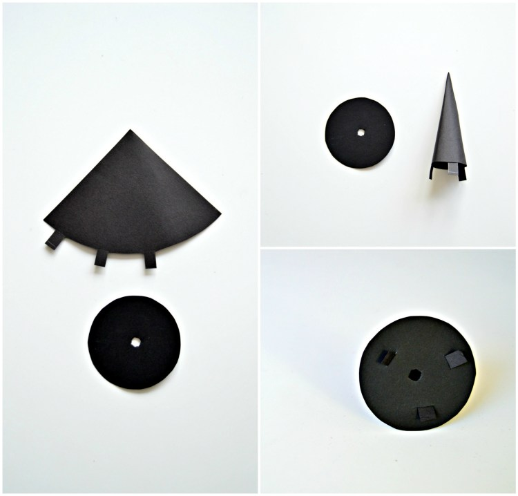 how to make a witches hat from paper