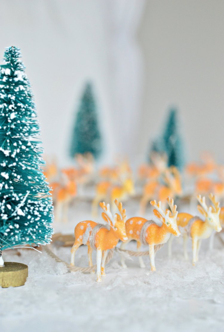 DIY advent calendar reindeers