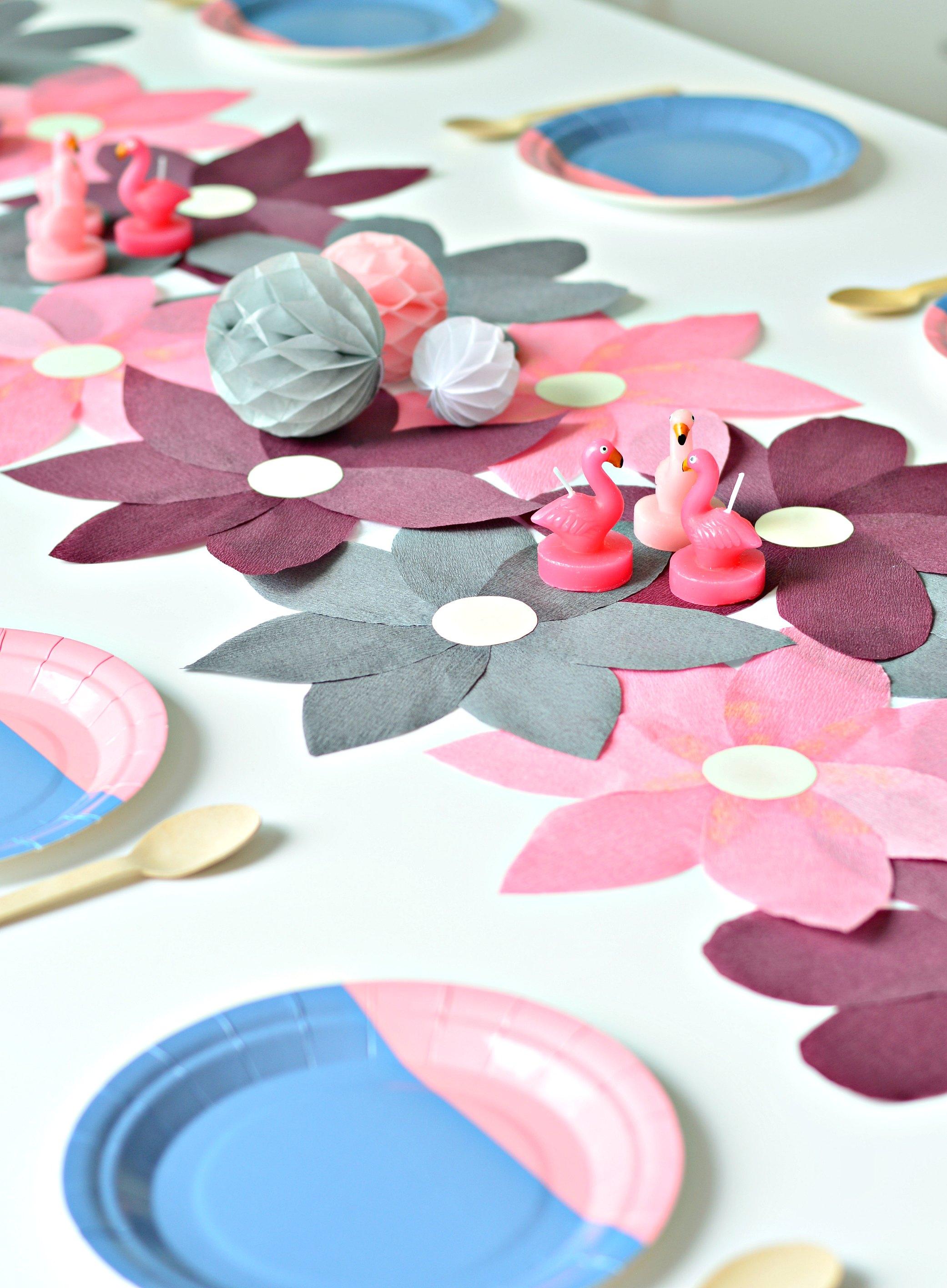Flower Power Diy Crepe Paper Table Runner Diy Home Decor Your