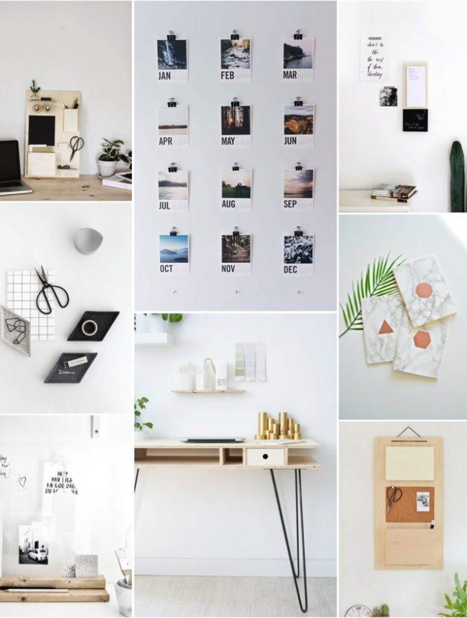 8 DIY desk organization ideas for a small home office