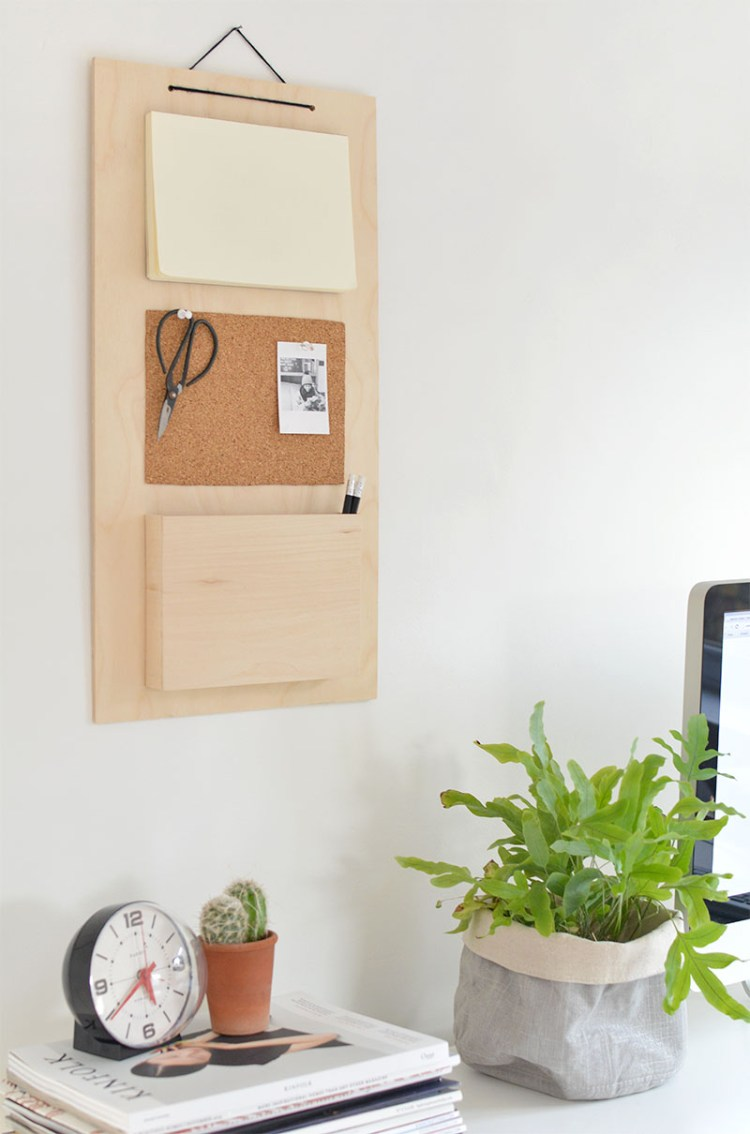 diy hanging desk organizer