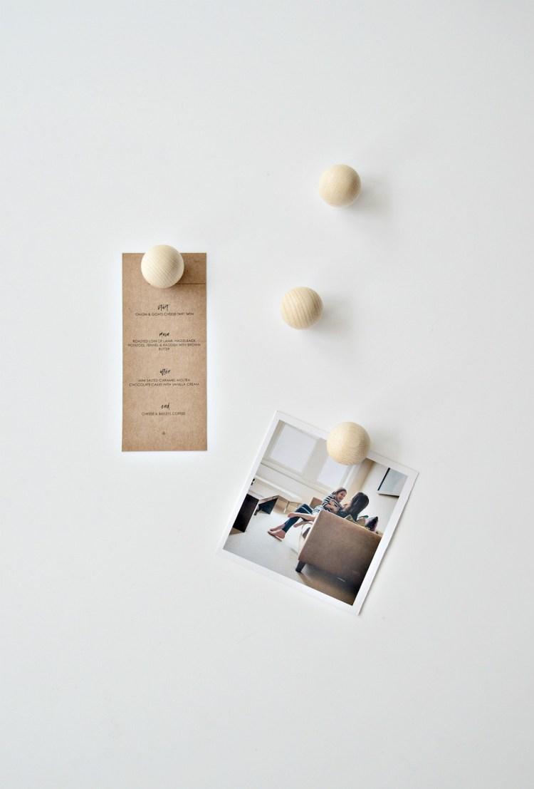 DIY fridge magnets
