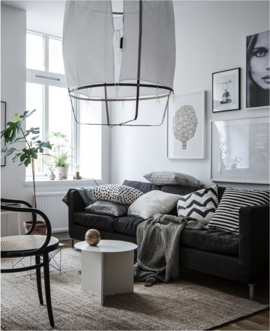 8 clever small living room ideas with scandi style diy - Small living room colors ...
