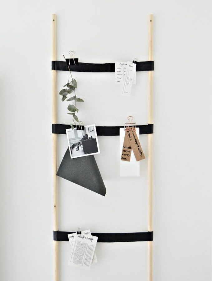 Get organised with this kitchen notice board diy