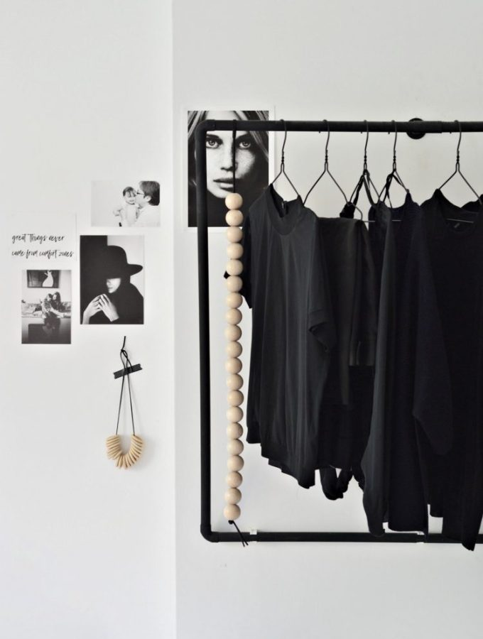 A minimal open wardrobe diy for your bedroom