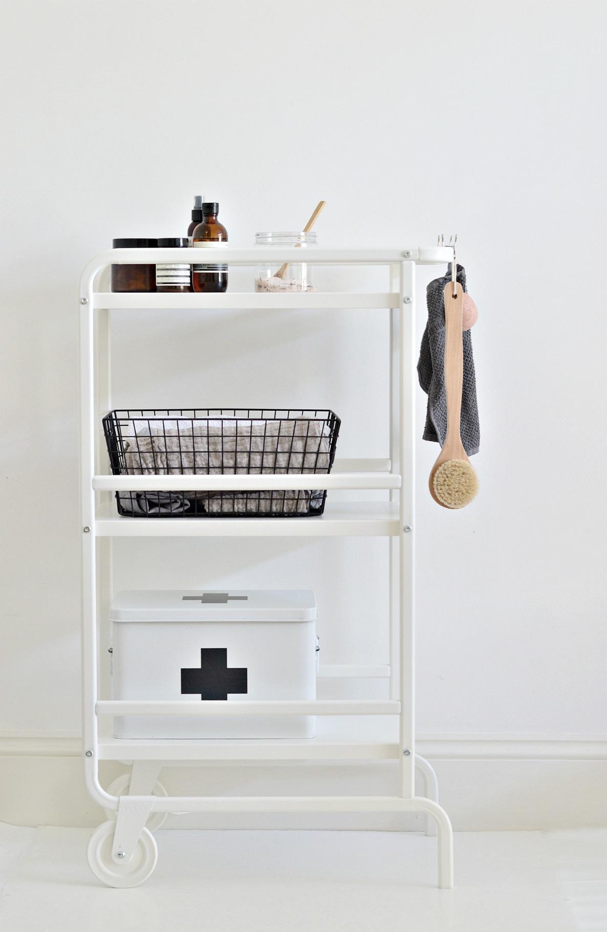 Cart it A small bathroom storage idea for under 20 DIY home
