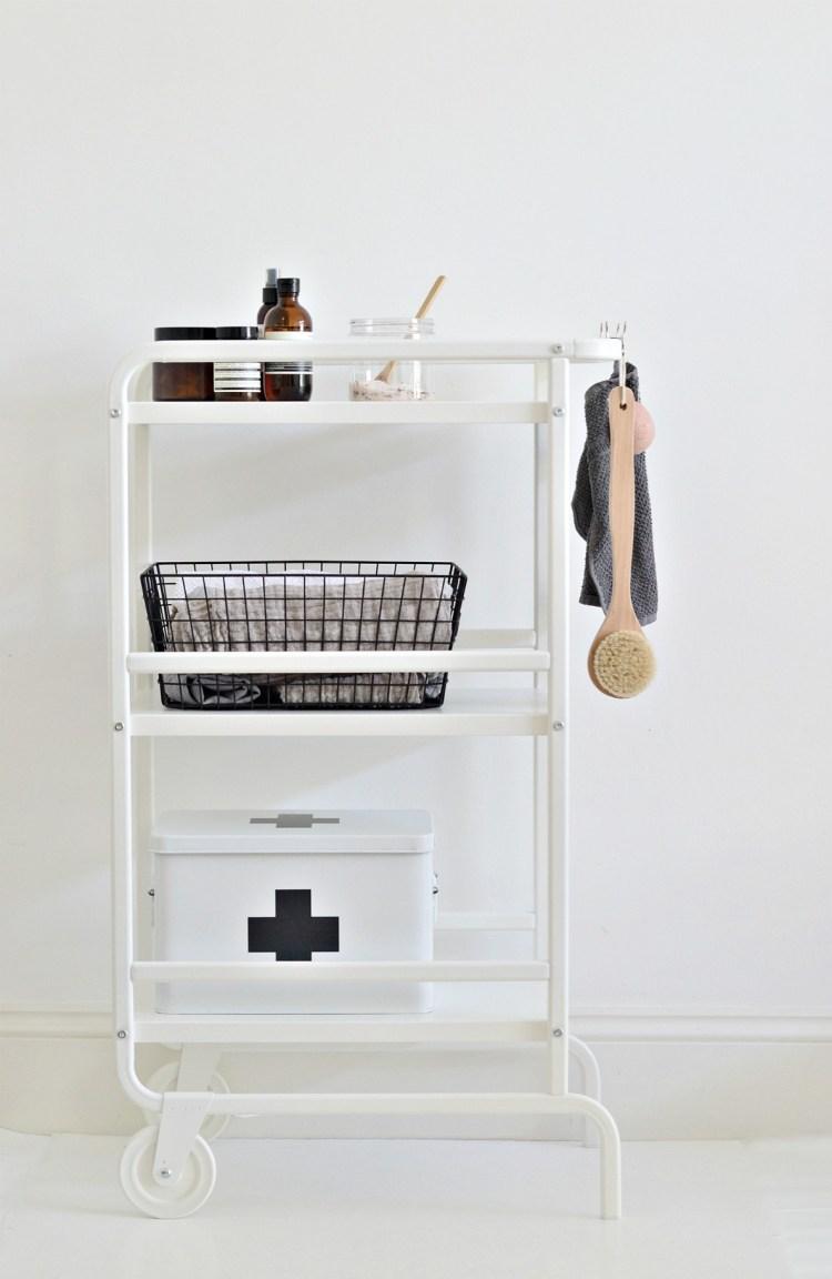ikea bathroom storage cart hack