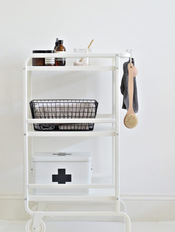 Cart it: A small bathroom storage idea for under £20