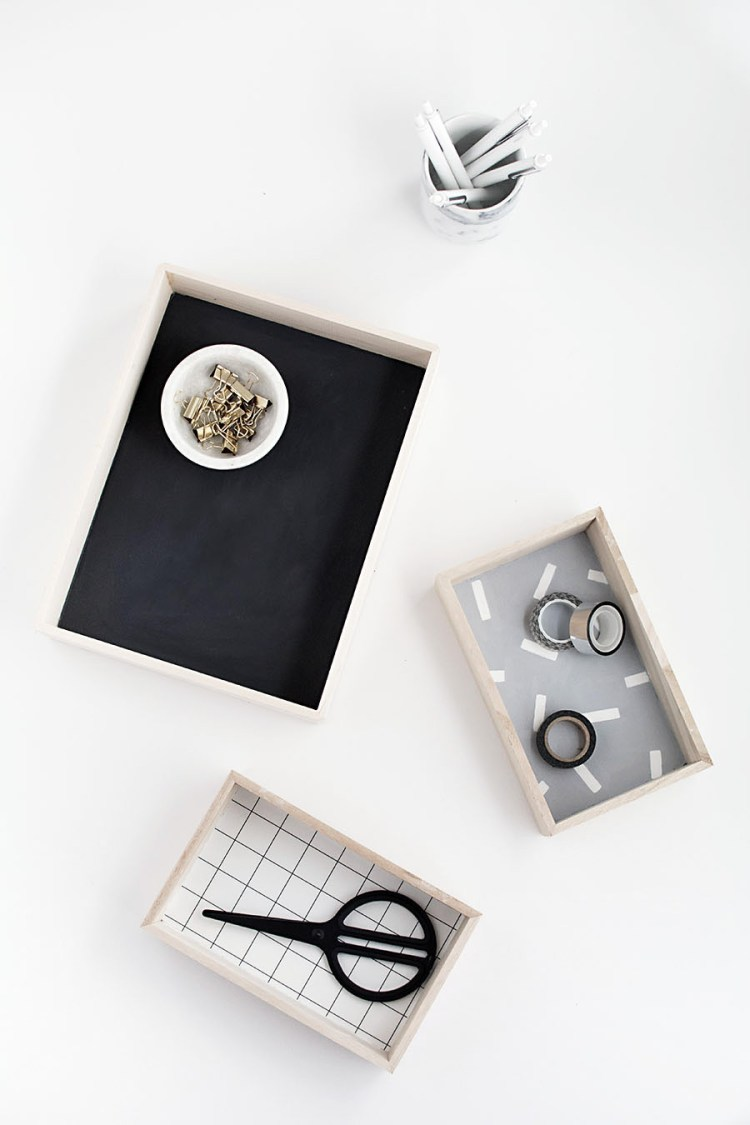 DIY desk organisers