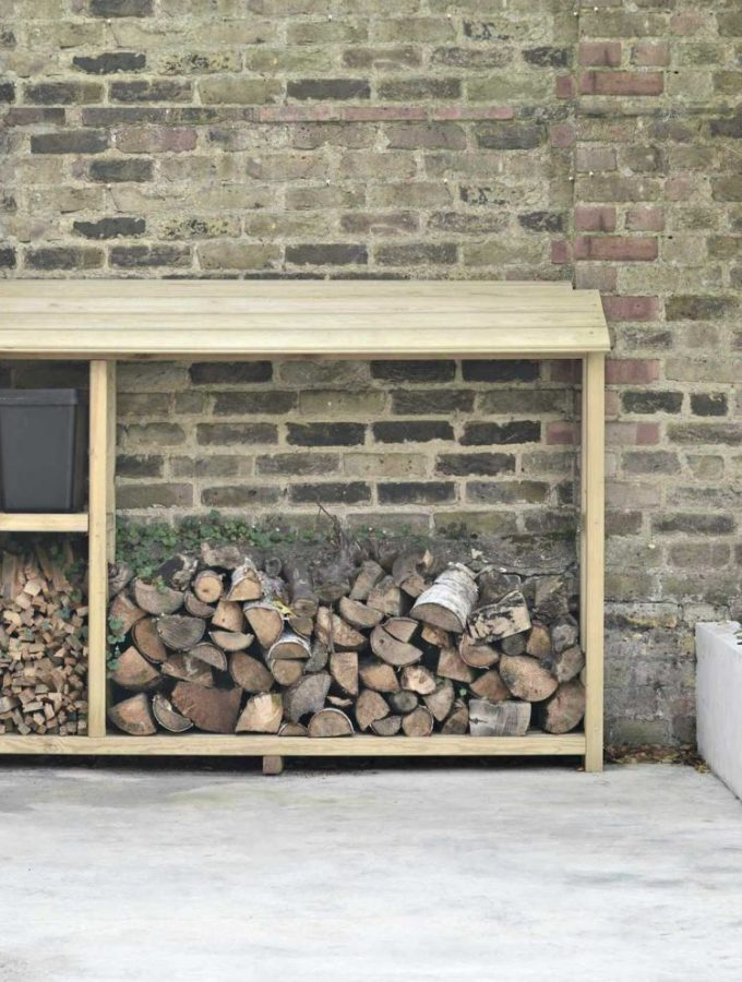 Stay warm! Build your own log store this winter
