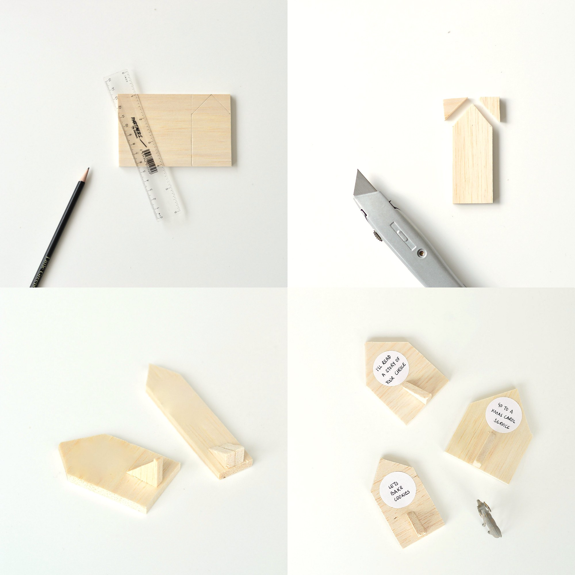 Make this mini house wooden advent calendar diy home How to build a wooden advent calendar