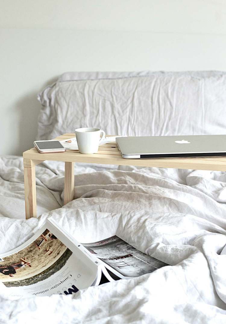 laptop bed table diy